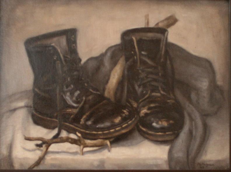 """""""malerinnens støvler"""" 2010, 59x49cm"""